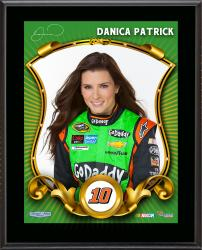Danica Patrick Number 10 Sublimated 10.5'' x 13'' Composite Plaque