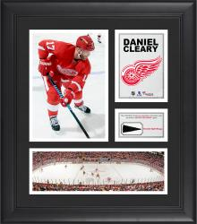 """Daniel Cleary Detroit Red Wings Framed 15"""" x 17"""" Collage with Piece of Game-Used Puck"""