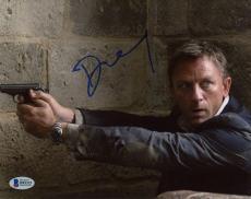 "Daniel Craig Autographed 8"" x 10"" Casino Royale Pointing Gun Photograph - Beckett COA"