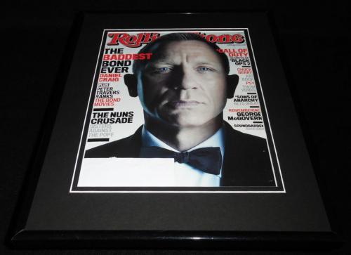 Daniel Craig Framed 11x14 ORIGINAL 2012 Rolling Stone Magazine Cover James Bond