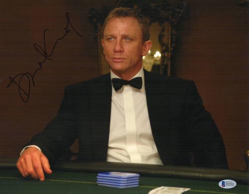 Daniel Craig Signed Auto James Bond 007 11x14 Bas Beckett Coa  10