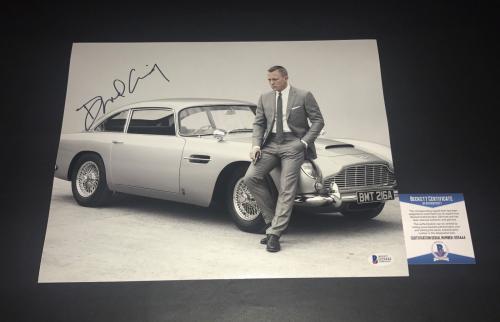 Daniel Craig Signed Auto James Bond 007 11x14 Bas Beckett Coa  13