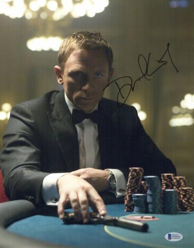 Daniel Craig Signed Auto James Bond 007 11x14 Bas Beckett Coa  14