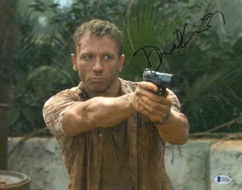 Daniel Craig Signed Auto James Bond 007 11x14 Bas Beckett Coa  20
