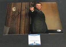 Daniel Craig Signed Auto James Bond 007 11x14 Bas Beckett Coa  25
