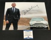 Daniel Craig Signed Auto James Bond 007 11x14 Bas Beckett Coa  28