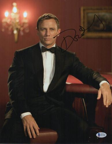 Daniel Craig Signed Auto James Bond 007 11x14 Bas Beckett Coa  30