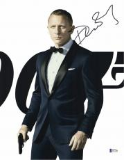 Daniel Craig Signed Auto James Bond 007 11x14 Bas Beckett Coa  31