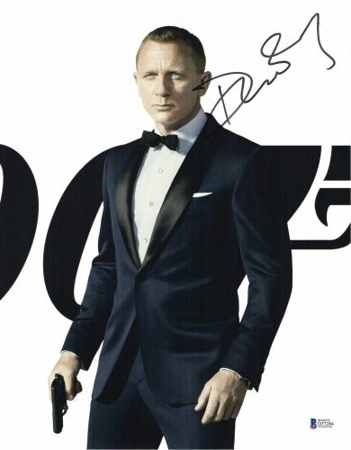 Daniel Craig Signed Auto James Bond 007 11x14 Bas Beckett Coa  31
