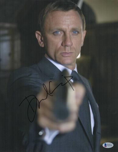 Daniel Craig Signed Auto James Bond 007 11x14 Bas Beckett Coa  5