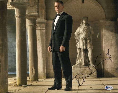 Daniel Craig Signed Auto James Bond 007 11x14 Bas Beckett Coa  9