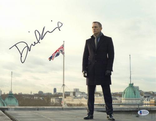 Daniel Craig Signed Auto James Bond 11x14 Photo Bas Beckett Coa Smear 1