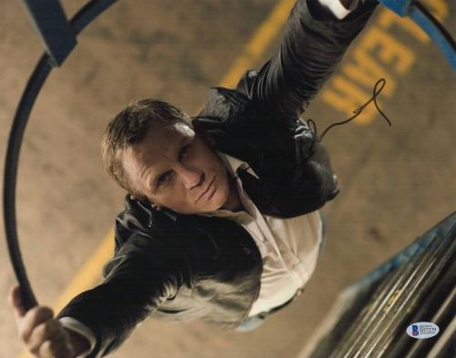 Daniel Craig Signed Auto James Bond 11x14 Photo Bas Beckett Coa Smear 2
