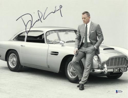 Daniel Craig Signed Auto James Bond 11x14 Photo Bas Beckett Coa Smear 3