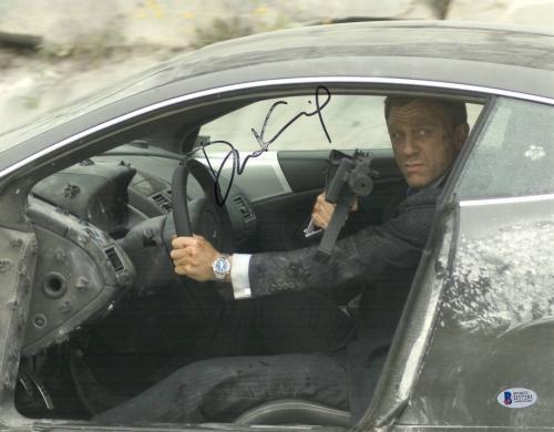 Daniel Craig Signed Auto James Bond 11x14 Photo Bas Beckett Coa Smear 4