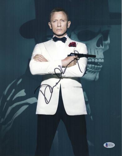 Daniel Craig Signed Auto James Bond 11x14 Photo Bas Beckett Coa Smear 5