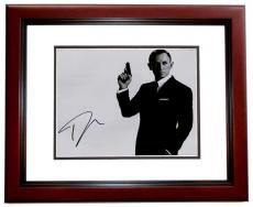 Daniel Craig Signed - Autographed 007 James Bond 11x14 inch Photo - MAHOGANY CUSTOM FRAME - Guaranteed to pass PSA/DNA or JSA