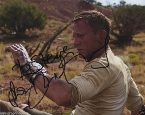 "Daniel Craig Signed Cowboys & Aliens Photo ""to Steve"" Wow!!"