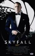 Daniel Craig Signed Skyfall 11x17 Movie Poster Psa Coa Ad48220