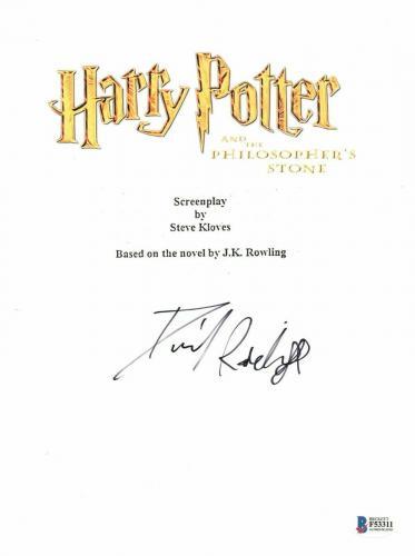 Daniel Radcliffe  Autograph  Harry Potter  Signed Movie Script Bas Beckett Coa 1