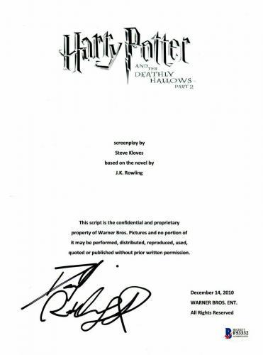 Daniel Radcliffe  Autograph  Harry Potter  Signed Movie Script Bas Beckett Coa 3