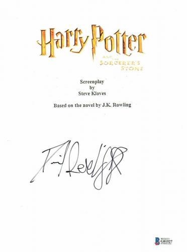 Daniel Radcliffe  Autograph  Harry Potter  Signed Movie Script Bas Beckett Coa 7