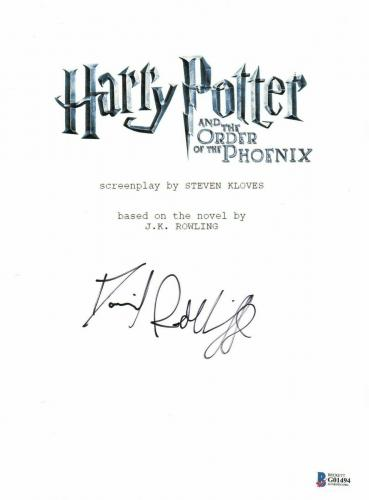 Daniel Radcliffe  Autograph  Harry Potter  Signed Movie Script Bas Beckett Coa 8