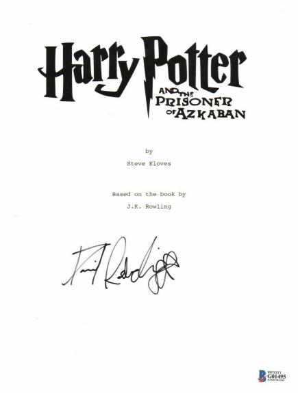 Daniel Radcliffe  Autograph  Harry Potter  Signed Movie Script Bas Beckett Coa 9