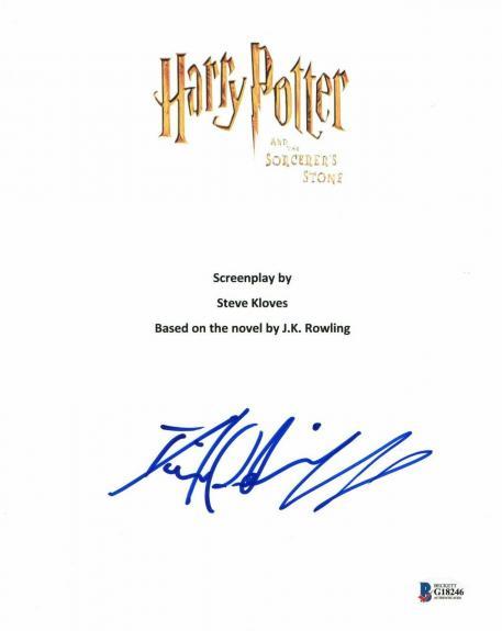 Daniel Radcliffe  Autograph  Harry Potter  Signed Movie Script Bas Beckett Coa