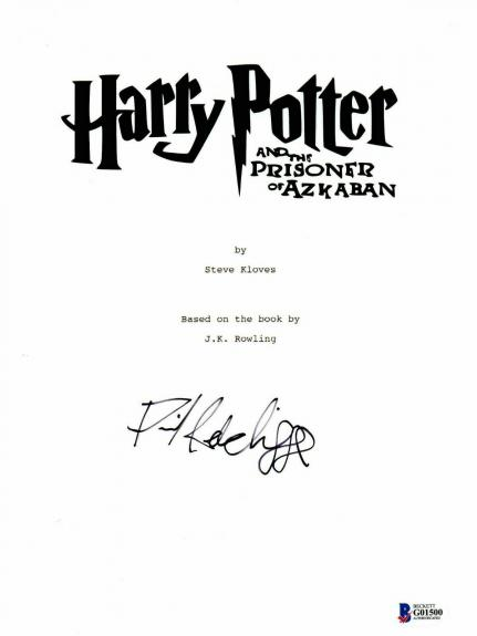 'daniel Radcliffe' Autograph Harry Potter Signed Movie Script Beckett Bas Coa 7
