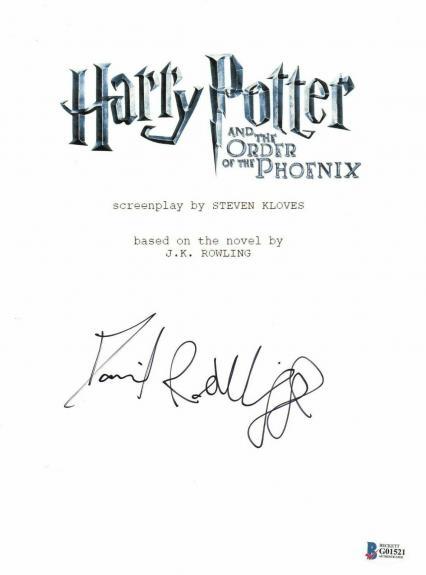 'daniel Radcliffe' Autograph Harry Potter Signed Movie Script Beckett Bas Coa 9