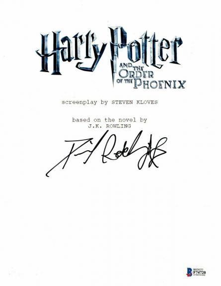 Daniel Radcliffe  Autograph  Harry Potter  Signed Script Bas Beckett Coa 201