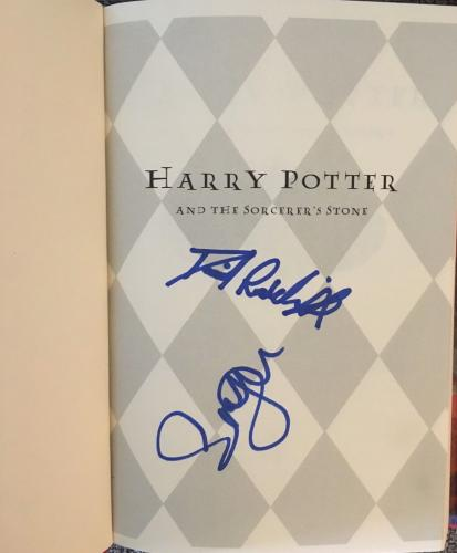 Daniel Radcliffe Emma Watson Signed Autograph Harry Potter Sorcerer's Stone Book