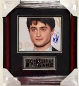 DANIEL RADCLIFFE Framed HARRY POTTER Signed 8x10 Photo JSA Autograph Auto