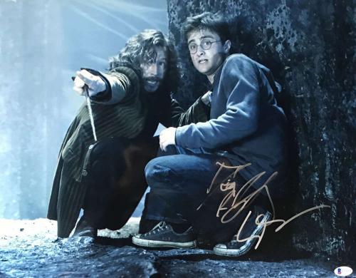 Daniel Radcliffe Gary Oldman Signed 16x20 Harry Potter Photo Beckett BAS