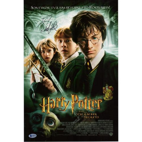 "Daniel Radcliffe Harry Potter Autographed 12"" x 18""  Chamber of Secrets Movie Poster - BAS"