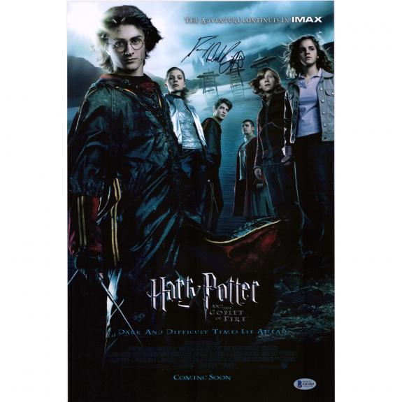 "Daniel Radcliffe Harry Potter Autographed 12"" x 18"" Goblet of Fire Movie Poster - BAS"