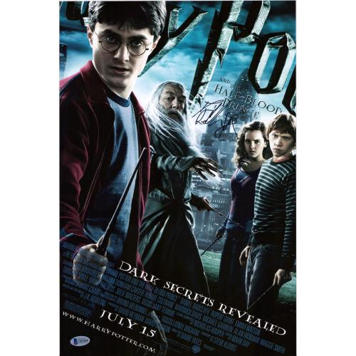 "Daniel Radcliffe Harry Potter Autographed 12"" x 18"" Half-Blood Prince Movie Poster - BAS"
