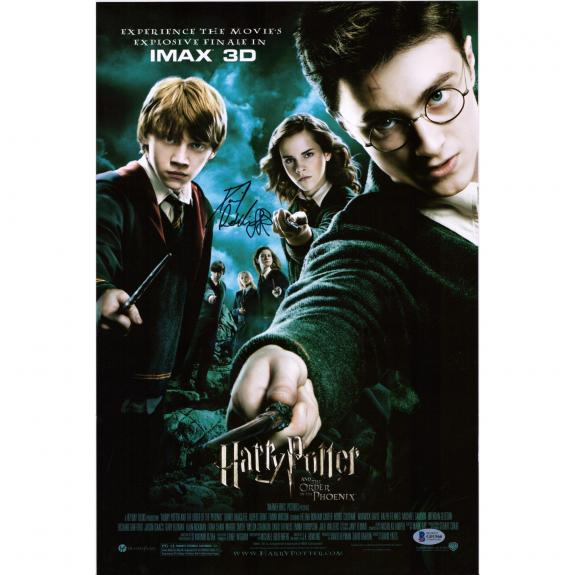 "Daniel Radcliffe Harry Potter Autographed 12"" x 18"" Order of the Phoenix Movie Poster - BAS"