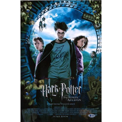 "Daniel Radcliffe Harry Potter Autographed 12"" x 18"" Prisoner of Azkaban Movie Poster - BAS"