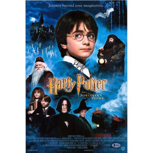 """Daniel Radcliffe Harry Potter Autographed 12"""" x 18"""" The Sorcerer's Stone Photograph - BAS"""