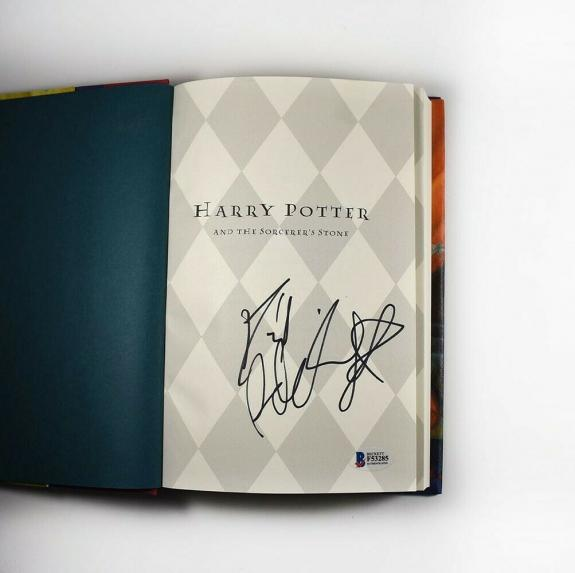 Daniel Radcliffe Harry Potter Autographed Signed Book Authentic BAS COA AFTAL
