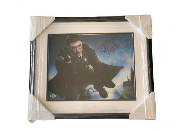 Daniel Radcliffe Harry Potter Signed 11x14 Professionally Framed Beckett Bas Loa