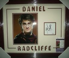 Daniel Radcliffe Harry Potter Signed Autographed Double Matted & Framed Rare