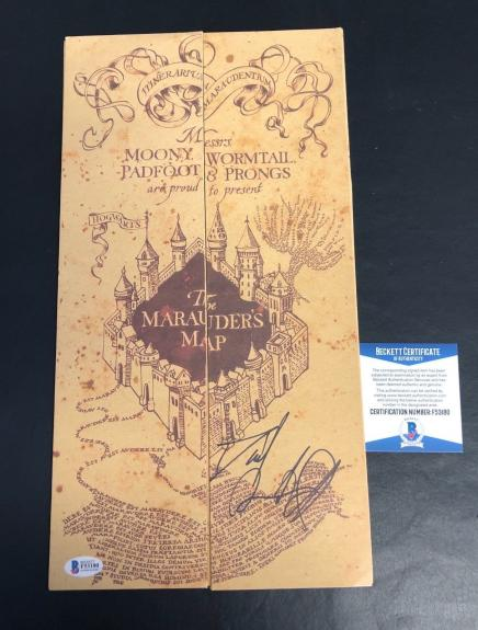 Daniel Radcliffe Harry Potter Signed Marauders Map Authentic Autograph Beckett