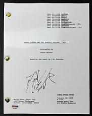 Daniel Radcliffe Harry Potter & The Deathly Hallows Part 1 Signed Movie Script