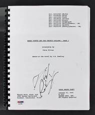 Daniel Radcliffe Harry Potter & The Deathly Hallows Part 1 Signed Script PSA/DNA