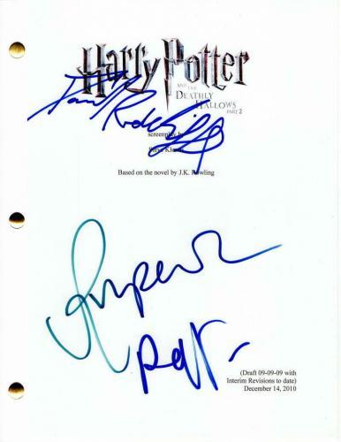 Daniel Radcliffe, Ralph Fiennes + Signed Autograph - Harry Potter 2 Movie Script