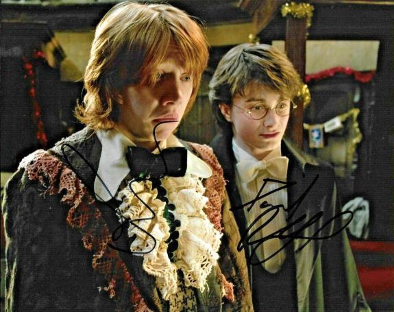 Daniel Radcliffe & Rupert Grint Harry Potter Signed Auto 8x10 Photo DG COA (B)