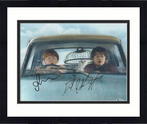 Daniel Radcliffe Rupert Grint Signed Auto Harry Potter 11x14 Beckett Bas Coa A